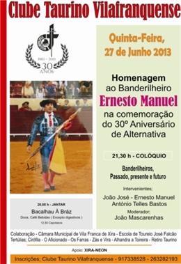 Homenagem a Ernesto Manuel - Vila Franca