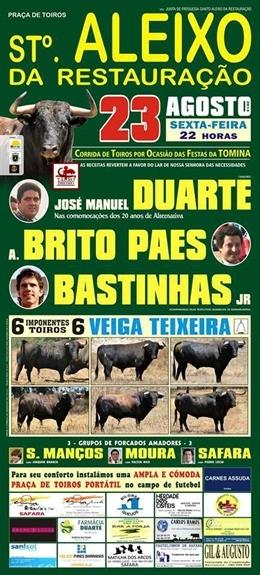 Morte do cavalo de José Manuel Duarte marca a corrida de St. Aleixo da Restauração