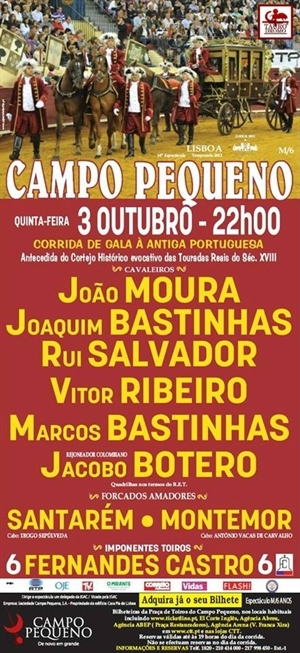 Crónica em directo do Campo Pequeno-Corrida de Gala à Antiga Portuguesa