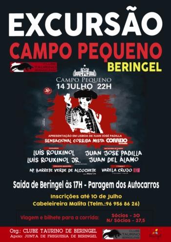 Clube Taurino Beringelense organiza excursão ao Campo Pequeno