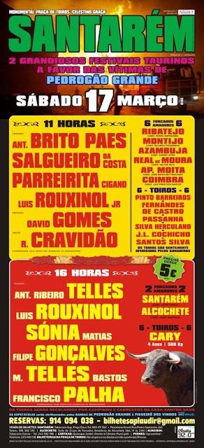 ALTERAÇÃO - 24MAR Festival taurino Todos por Pedrogão Grande