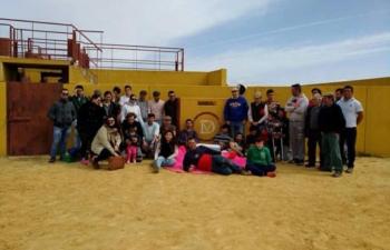 O Grupo de Forcados Amadores do Montijo treinou na herdade de Diego Ventura