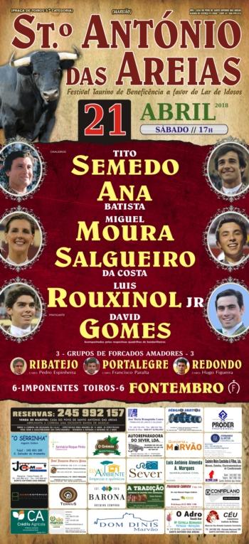 Tradicional festival de Santo António das Areias já tem cartel