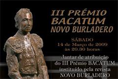 III Prémio BACATUM / Revista NOVO BURLADERO