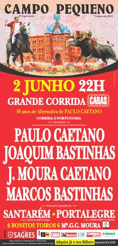 Pesos dos Toiros para os 30 de Alternativa de Paulo Caetano