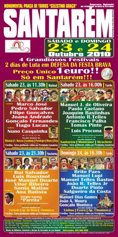 Cartéis para os dias de luta em DEFESA DA FESTA BRAVA