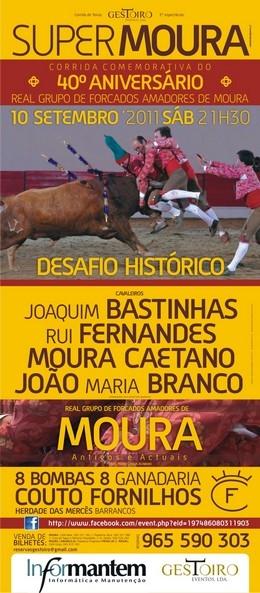 Amadores de Moura pegam a solo 8 toiros no seu 40º aniversário