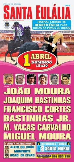 Festival de Beneficiência em Santa Eulália dia 1 de Abril