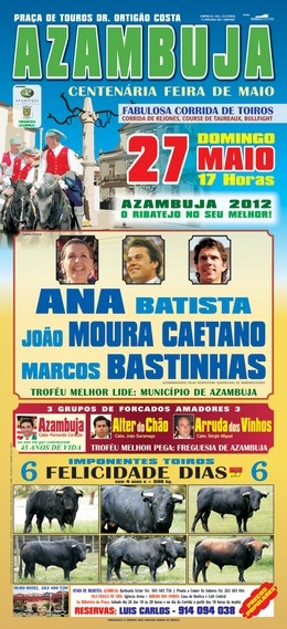 Rematado o cartel para a Centenária Feira de Maio em Azambuja