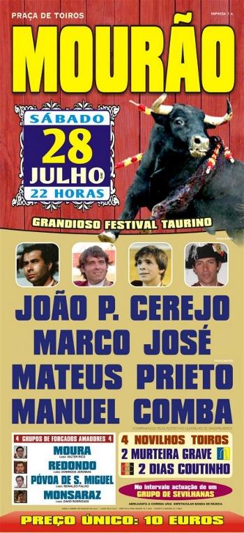 Festival Taurino em Mourão, dia 28 de Julho