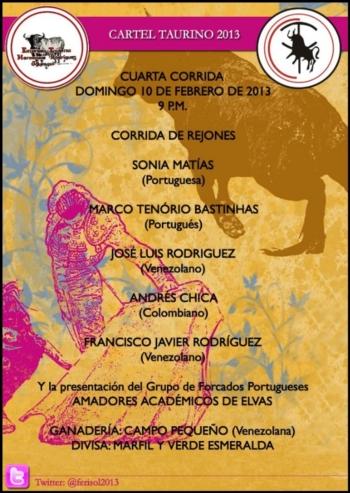 Cartaz dos portugueses da Feria del Sol