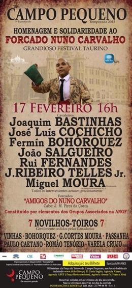 Força Nuno! dia 17 de Fevereiro, às 16h, todos ao Campo Pequeno!