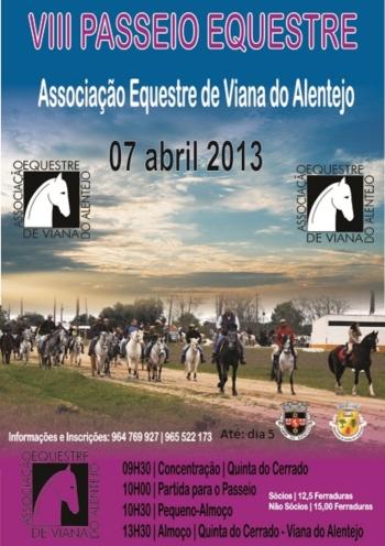 VIII Passeio Equestre em Viana do Alentejo