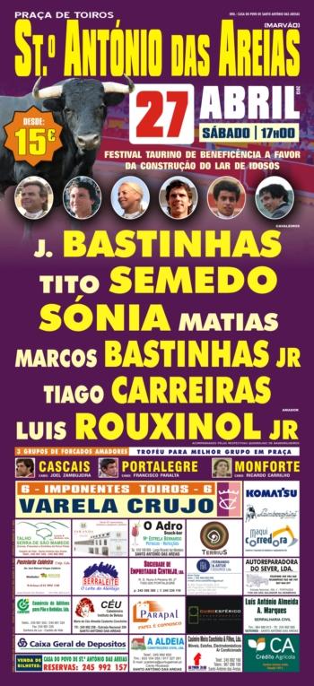 Cartaz de Sto António das Areias de 27 de Abril
