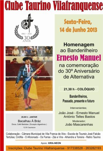 Ernesto Manuel homenageado pelo Clube Taurino Vilafranquense