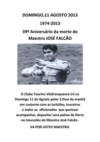 39º Aniversário da morte do maestro José Falcão