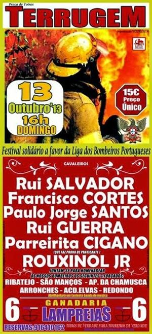 Festival Solidário a favor da Liga dos Bombeiros Portugueses