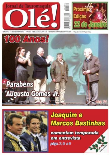 Jornal Olé nº316- Já nas Bancas