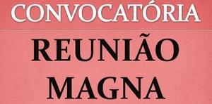 Reunião Magna dia 13 de Março