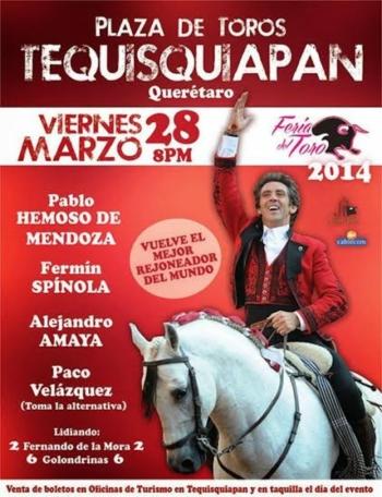 Cartaz da corrida da alternativa de Paco Velásquez