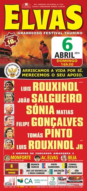 Tradicional Festival Taurino a favor dos Bombeiros Voluntários de Elvas