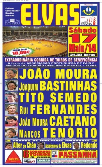 Cartaz de 17 de Maio em Elvas