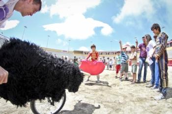 As crianças foram as protagonistas na jornada de ontem nas Sanjoaninas