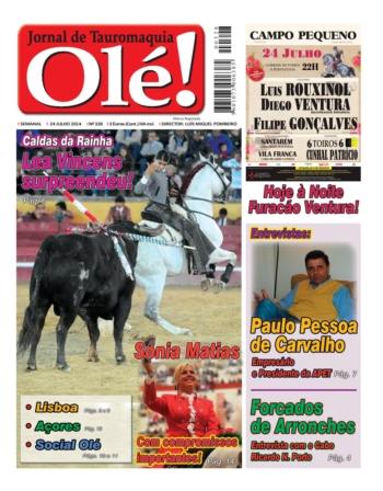 Capa do Jornal Olé - nº 328 - Amanhã nas bancas