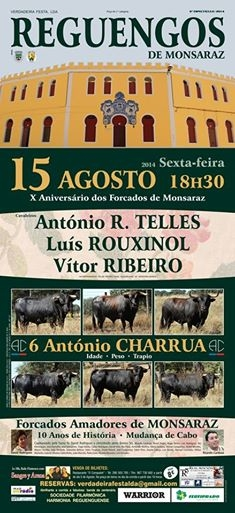 O cartel do 15 de Agosto em Reguengos de Monsaraz