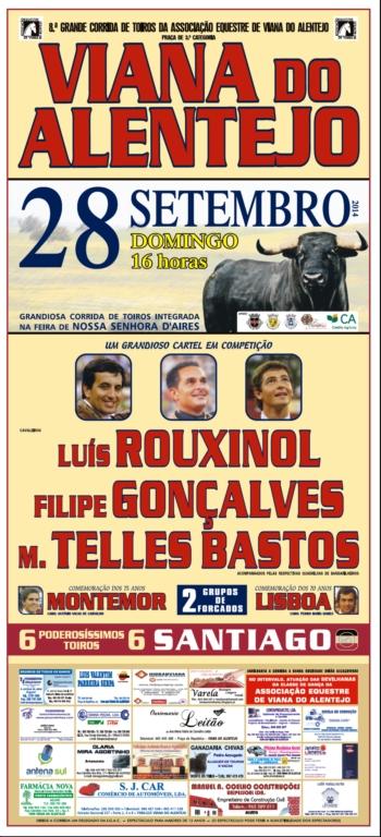 Cartaz de 28 de Setembro em Viana do Alentejo