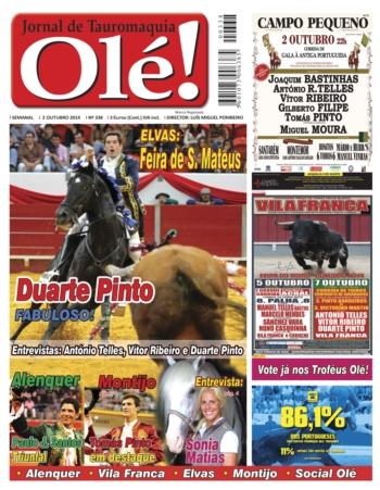 Capa do jornal Olé nº388 - Já nas bancas