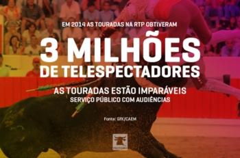 Touradas transmitidas pela RTP em 2014 obtiveram 3 Milhões de telespectadores