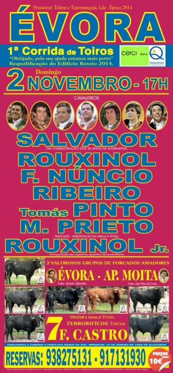 O cartaz de dia 2 de Novembro em Évora