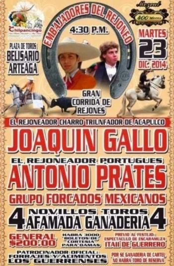 António Prates prossegue a tourear no México