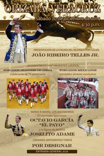 João Ribeiro Telles vai tourear com as máximas figuras mexicanas
