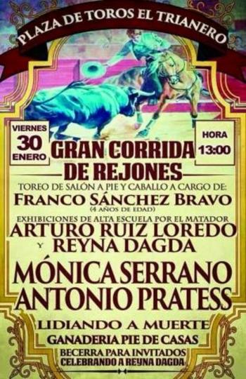 António Prates dia 30 de Janeiro em Trianero (México)