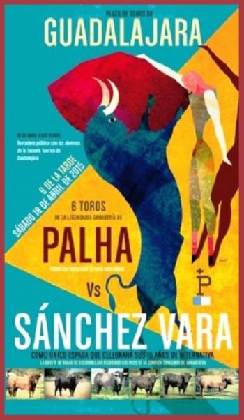 Cartaz da Encerrona de Sánchez Vara perante toiros Palha