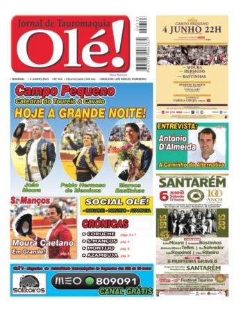 Capa do jornal Olé nº 353 - já nas bancas!
