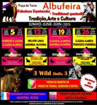 Cartéis de Junho na Praça de Touros de Albufeira