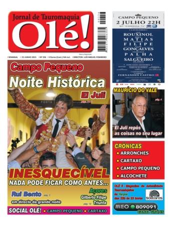 A capa do Olé nº 356 - Amanhã nas bancas!