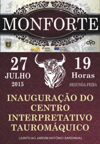 Município de Monforte inaugura o Centro Interpretativo Tauromáquico