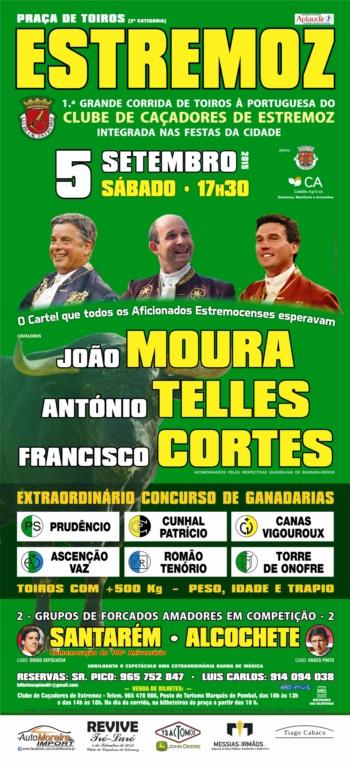 Francisco Cortes comemora 20 anos de Alternativa dia 5 de Setembro em Estremoz