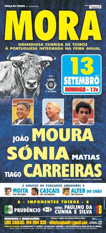 Corrida em Mora a 13 de Setembro
