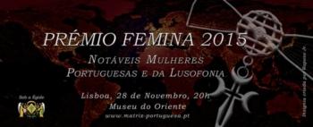 Sónia Matias agraciada com o Galardão Feminina 2015