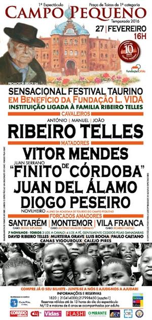 Campo Pequeno - Festival Taurino Solidário a favor da Fundação LVida
