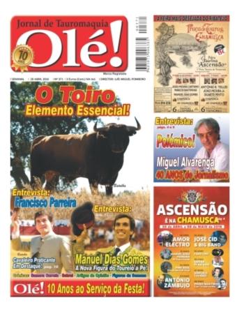 Jornal Olé nas bancas a 28 de Abril próxima quinta feira