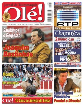 Jornal Olé nº 374 nas bancas na próxima quinta feira