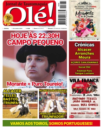 Jornal Olé!  - edição 380 que estará nas Bancas amanhã
