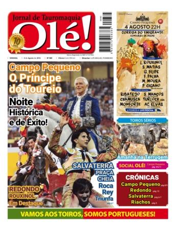 Jornal Olé 385, hoje nas bancas