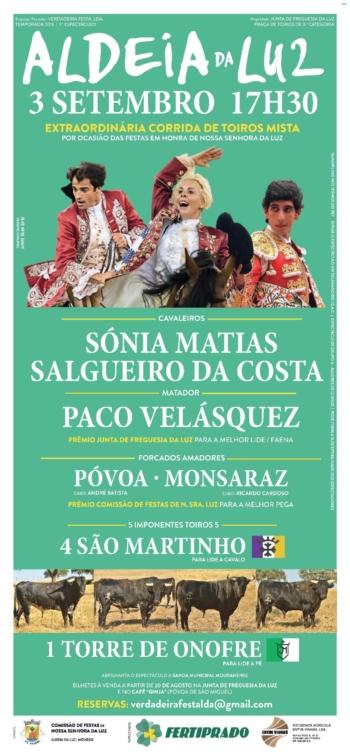 Empresa Verdadeira Festa confirma presença de Sónia Matias na Corrida da Aldeia da Luz